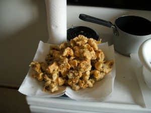 Final fried mushrooms