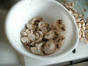 Left over raw Mushrooms